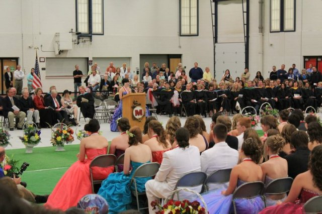 I gave one of the graduation speeches...there are no good existing pictures.